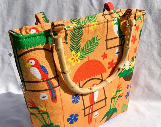 Tote Bag Purse Handbag - Tiki Room Birds