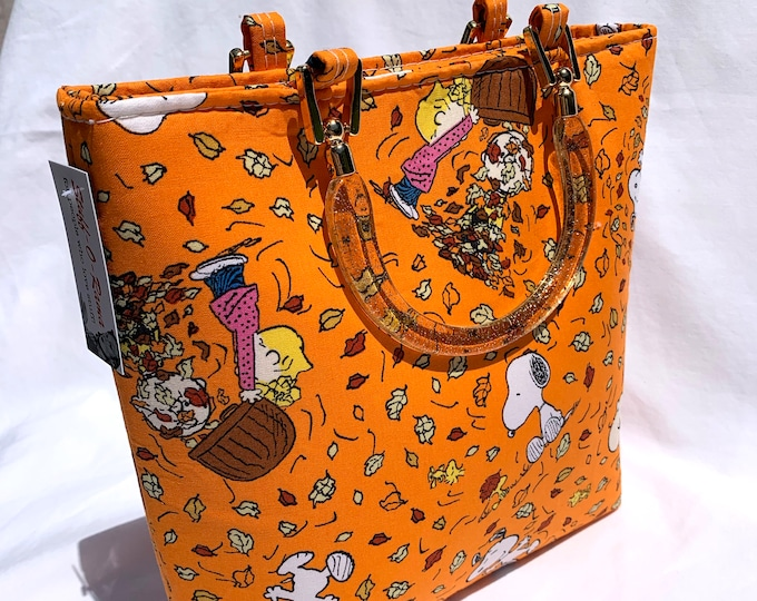 Handbag - Peanuts Falling Leaves