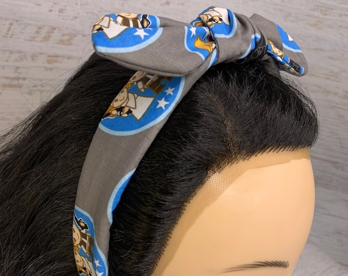 Kawaii Star Wars - Pin Up Style Tie Knot Headband with Removable Bow - Hair Wrap - Cotton