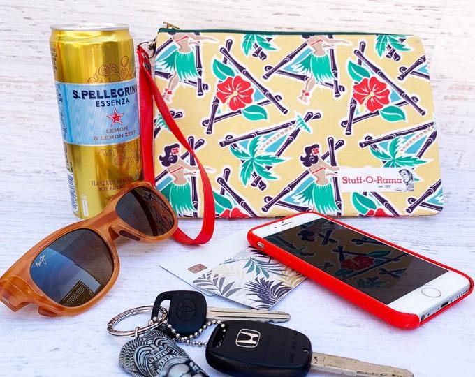 Maui Pop Pin Up Hula Girls - Clutch Wallet Wristlet