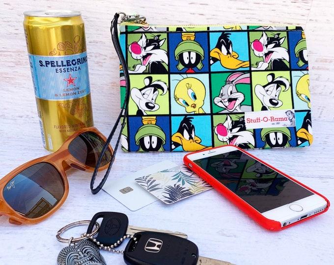Looney Tunes Squares - Clutch Wallet Wristlet