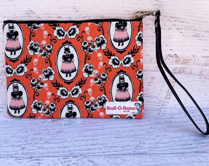 Victorian Cat Girl - Halloween - Clutch Wallet Wristlet