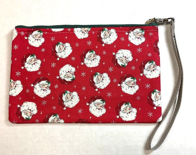 Retro Jolly Santa Clutch Wallet - Wristlet
