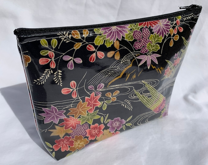 Japanese Kimono Fabric Makeup Bag
