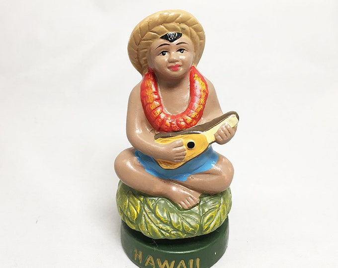 Dashboard Hula Vintage Ukulele Boy Doll
