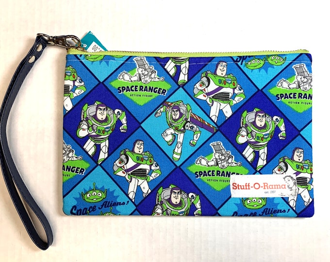 Wristlet Zipper Pouch Clutch Purse - Buzz Lightyear Space Ranger