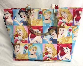 Tote Bag Purse Handbag Disney Princess Snow White Ariel Cinderella Belle Sleeping Beauty disney disneyland walt disney world