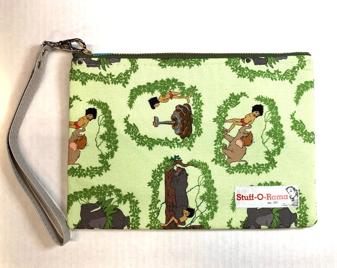 Wristlet Zipper Pouch Clutch Purse - Jungle Book Vines