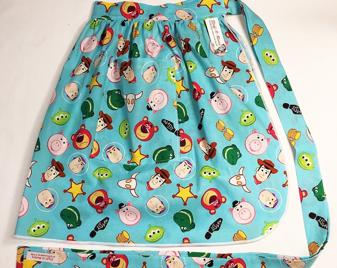 Half Apron - Vintage Pin Up Skirt Style - Toy Story Icons