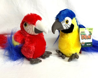 Plush Macaw Parrot
