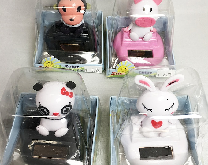 Solar Pets - Dancing Monkey, Pig, Panda, or Bunny Rabbit