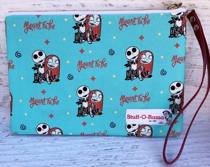 Nightmare Before Christmas - Jack and Sally - Meant To Be - Clutch Wallet Wristlet