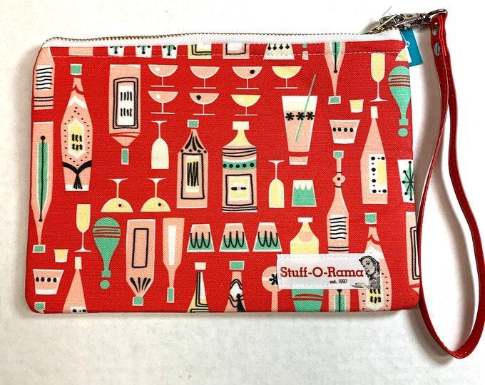 Christmas Cocktails - Clutch Wallet Wristlet