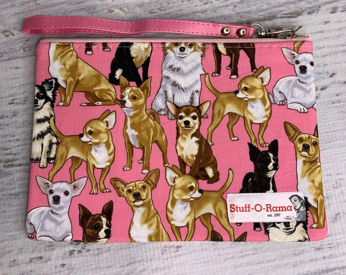 Chihuahuas! Pink - Clutch Wallet Wristlet