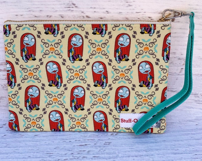 Nightmare Before Christmas - Sally - Yellow - Clutch Wallet Wristlet