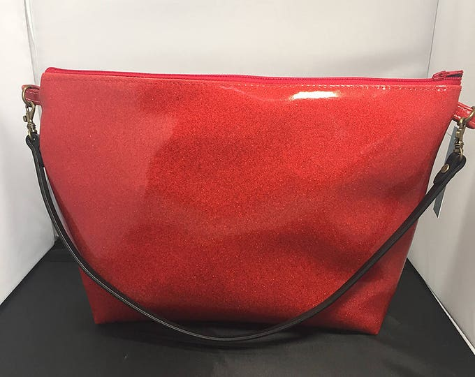 Clutch Purse - Red Glitter Vinyl (Small)