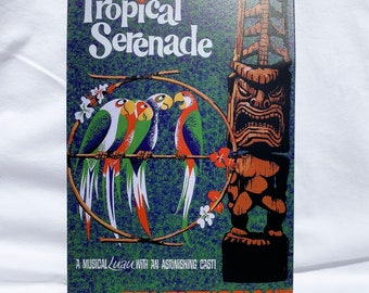 Tropical Serenade - Enchanted Tiki Room - Adventureland - Metal Sign