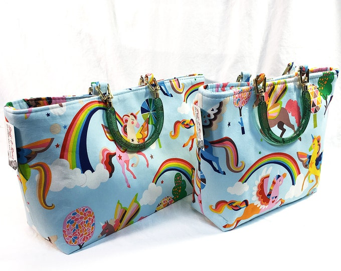 Handbag - Unicorn Pegasus Rainbow