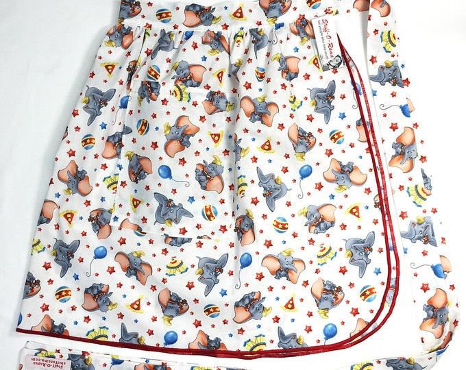Half Apron - Vintage Pin Up Skirt Style - Dumbo
