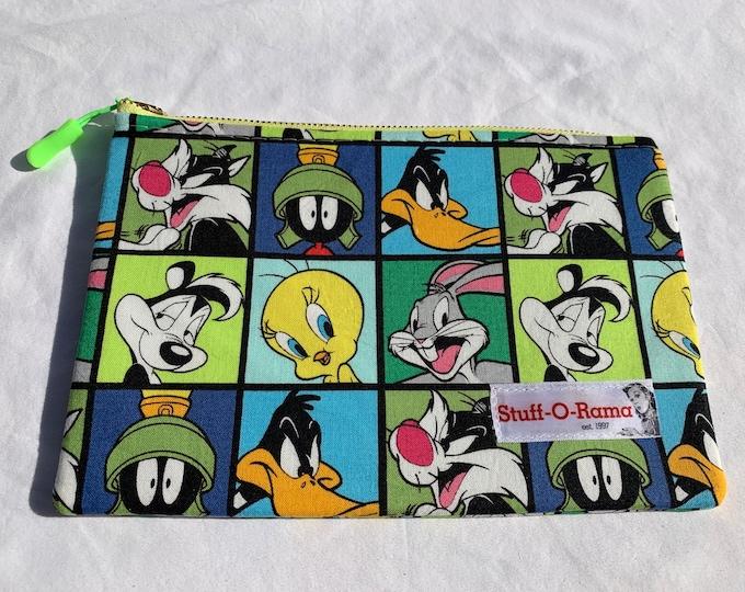 Zipper Pouch Clutch Purse - Looney Tunes Squares