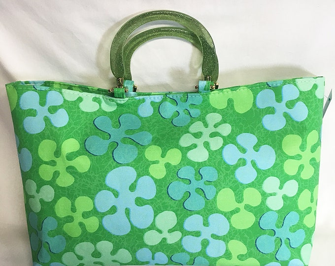 Handbag - Aloha Flowers by Tiki Tony