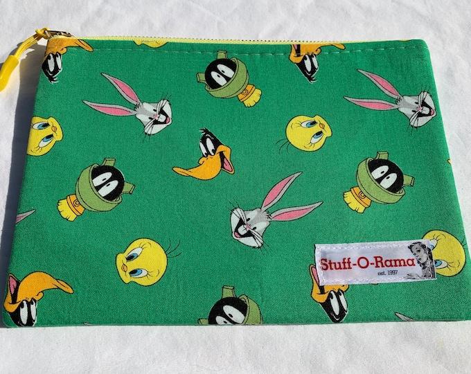 Zipper Pouch Clutch Purse - Looney Tunes Green