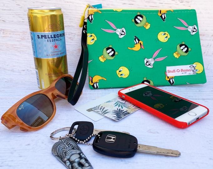 Looney Tunes Green - Clutch Wallet Wristlet