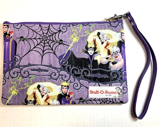 Wristlet Zipper Pouch Clutch Purse - Disney Villains