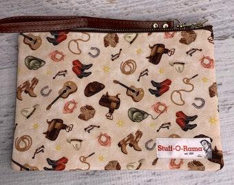 Country & Western Cowboy - Clutch Wallet Wristlet