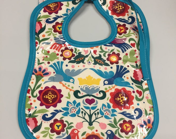 Wipeable Baby Bibs - Mexico Folklorico