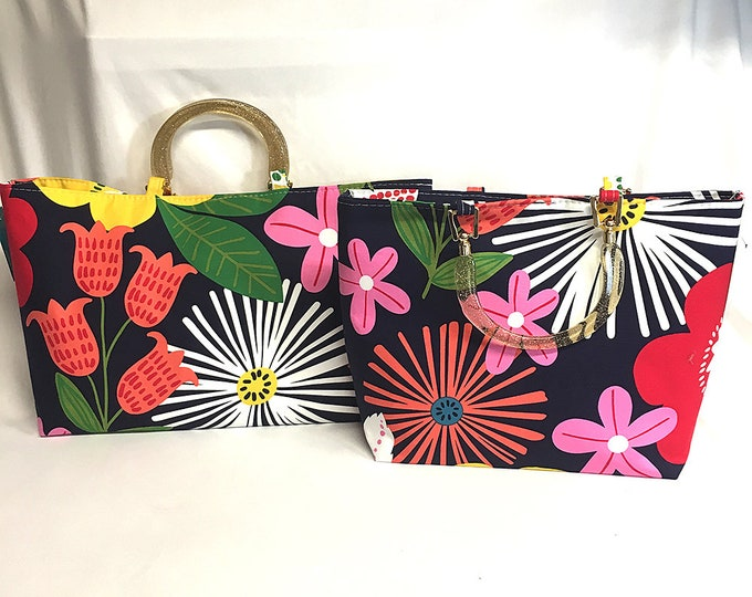Mod Flowers - Tote Bag - Purse - Handbag