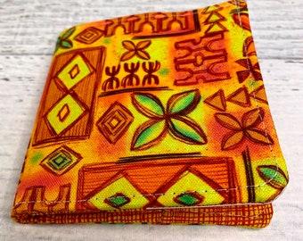 Tiki Tapa - Cotton Canvas Bi-Fold Wallet - Billfold - Tiki - Disneybound - Enchanted Tiki Room