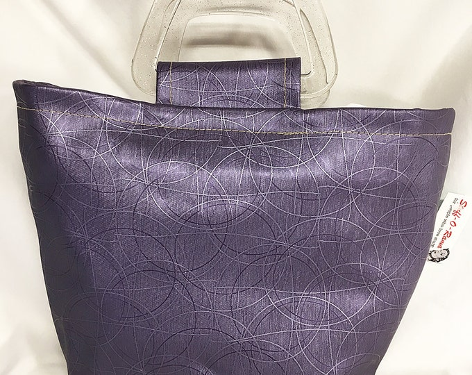 Handbag - Purple Metallic Circles