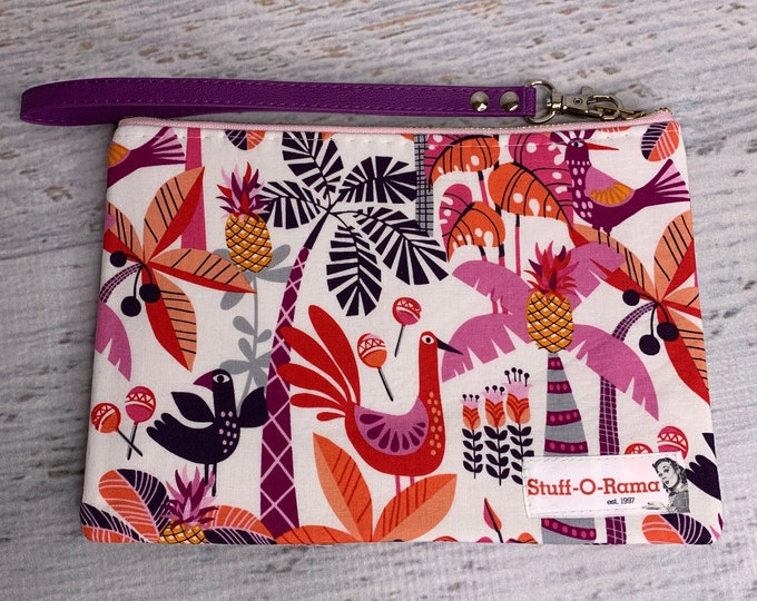 South of the Border - Tropical Print - Clutch Wallet Wristlet