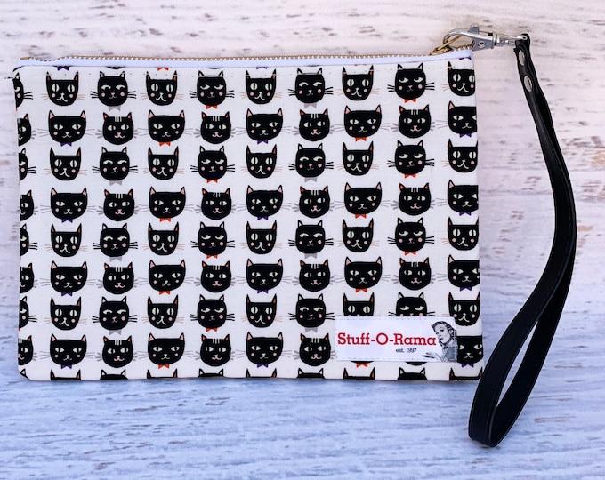 Black Cats - Halloween - Clutch Wallet Wristlet