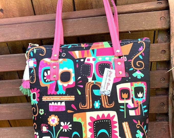Vinyl Shoulder Zipper Tote Bag - Jeff Granito Dia De Los Churros Ltd Ed