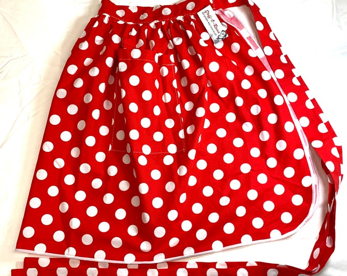 Rock the Dots - Half Apron - Vintage Pin Up Skirt Style