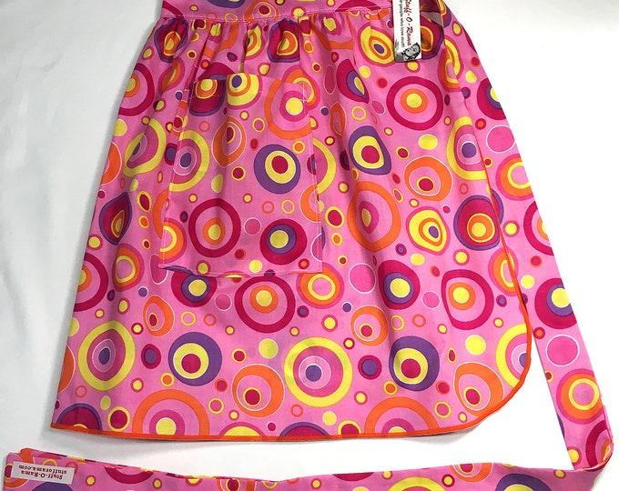 Half Apron - Vintage Pin Up Skirt Style - Mod Circles