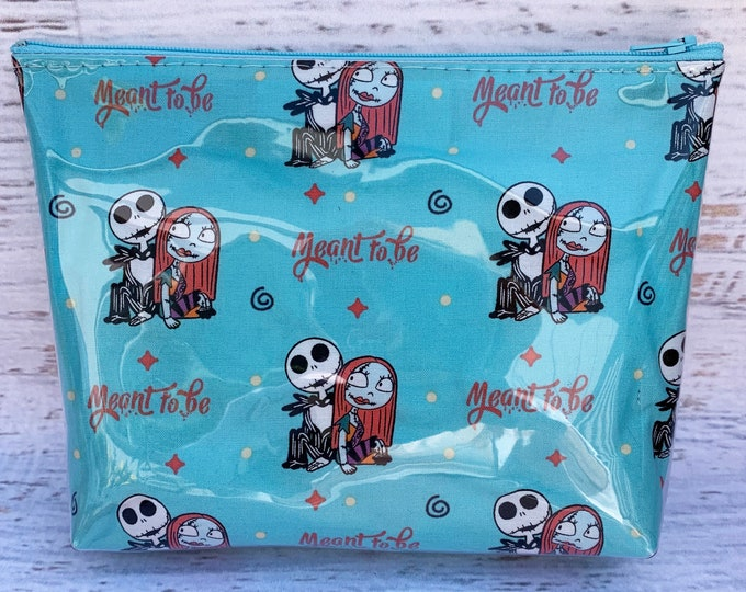 Nightmare Before Christmas - Jack and Sally - Meant To Be - Make Up Bag