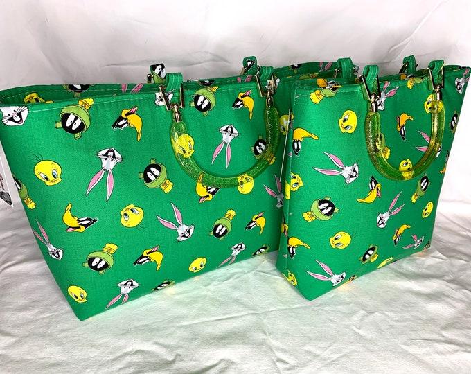 Looney Tunes Green - Tote Bag - Purse - Handbag