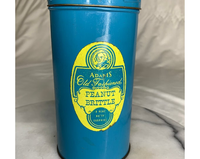 Adams Old Fashioned Peanut Brittle Vintage Snake in a Can Vintage Novelty Toy Gag Gift 1950s