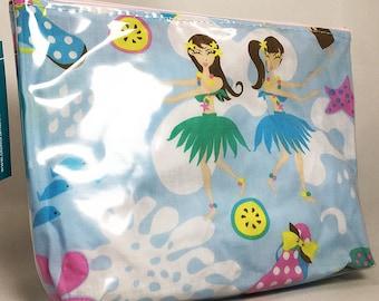 Make Up Bag - Hula Girls Zipper Pouch