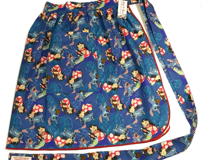 Half Apron - Vintage Pin Up Skirt Style - Lilo and Stitch