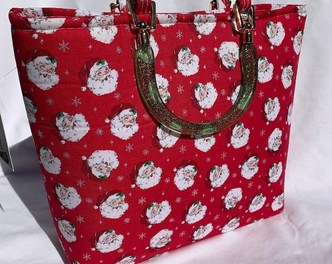 Retro Jolly Santas - Tote Bag - Purse - Handbag - Bag