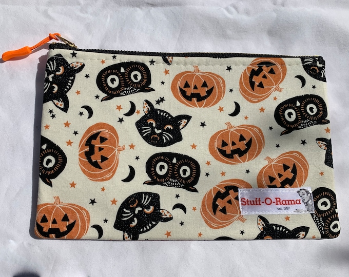 Zipper Pouch Clutch Purse - Vintage Halloween