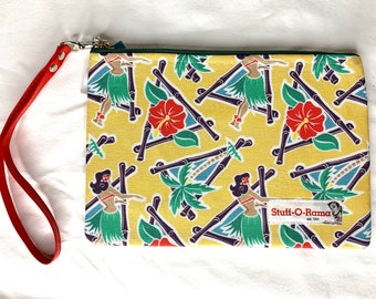 Maui Pop Pin Up Hula Girls - Clutch Wallet Wristlet