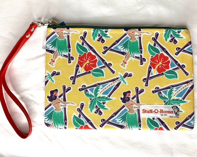 Wristlet Zipper Pouch Clutch Purse - Maui Pop