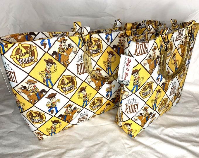 Toy Story - Sheriff Woody Lets Ride - Tote Bag - Purse - Handbag
