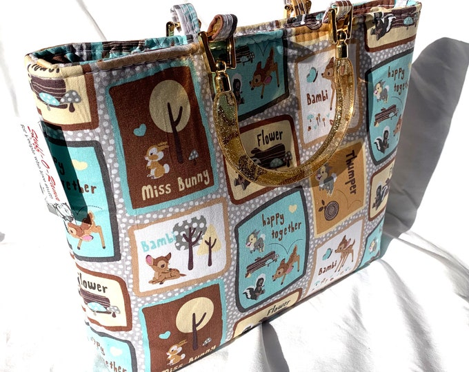 Bambi and Friends - Tote Bag - Purse - Handbag