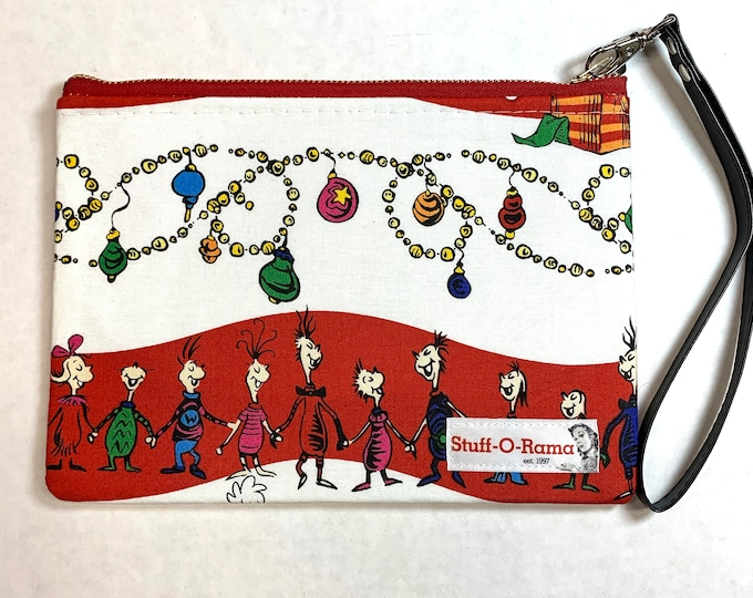 Merry Grinchmas Whoville Choir - Clutch Wallet Wristlet